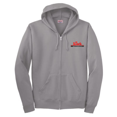 Hanes - Ecosmart ® Full Zip Hooded Sweatshirt - Embroidered Logo Thumbnail