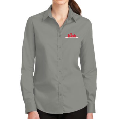 Port Authority - Ladies SuperPro Twill Shirt - Embroidered Logo Thumbnail