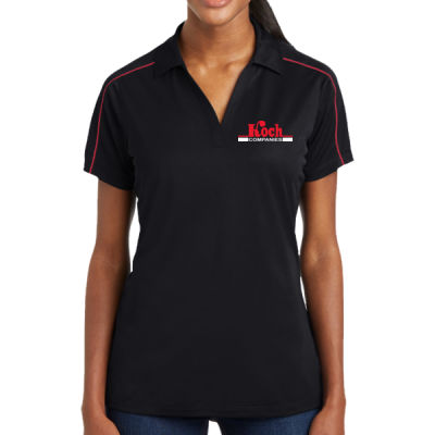 Sport Tek - Ladies Micropique Sport Wick Piped Polo - Embroidered Logo Thumbnail