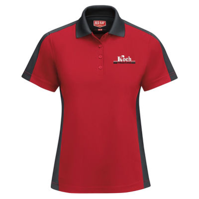 Red Kap - Women's Short Sleeve Performance Knit Two-Tone Polo - Embroidered Logo Thumbnail